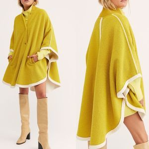 NEW Free People Stone Cold Circle Cape